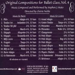 Original Compositions for ballet class vol4 Verso