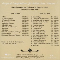 Original Compositions for Ballet Class, Vol. 7 Verso