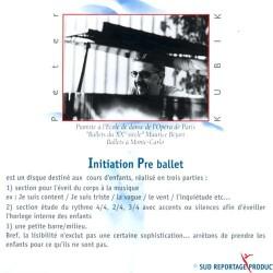 Initiation pré-ballet Verso